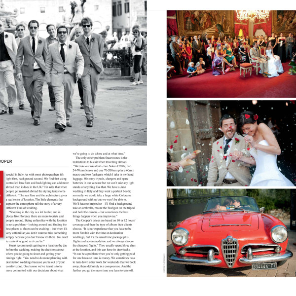 Destination Weddings - Turning Pro Magazine Feature