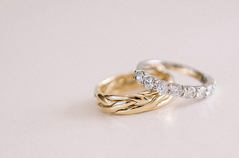 Gold and diamond Wedding Rings
