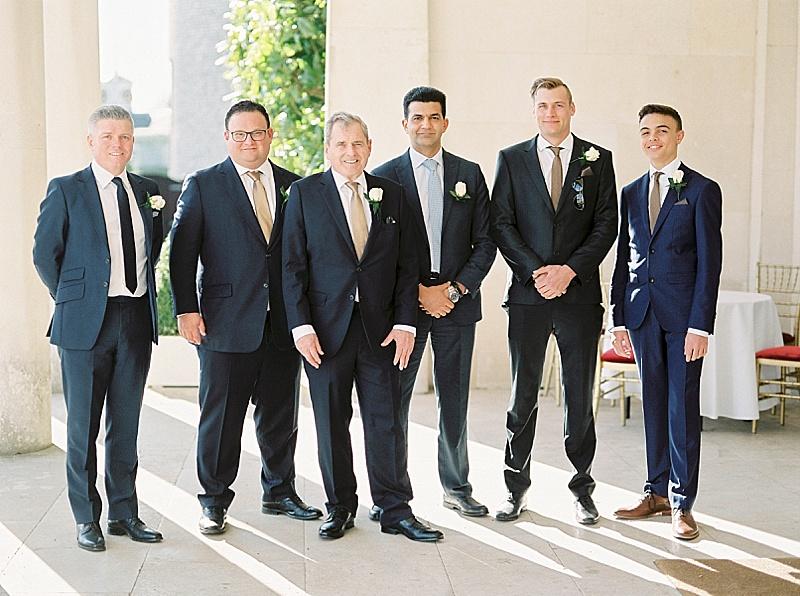 older groom and groomsmen