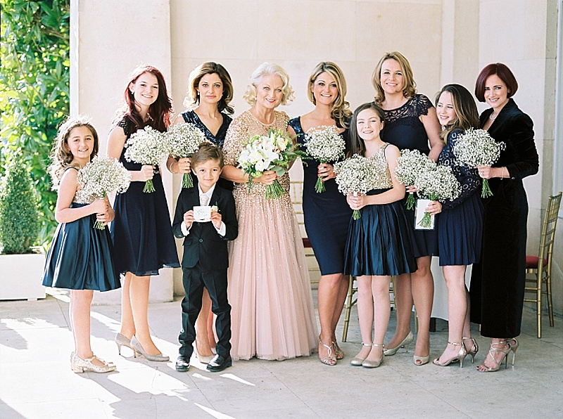 Bride in Jenny Packham and bridesmaids