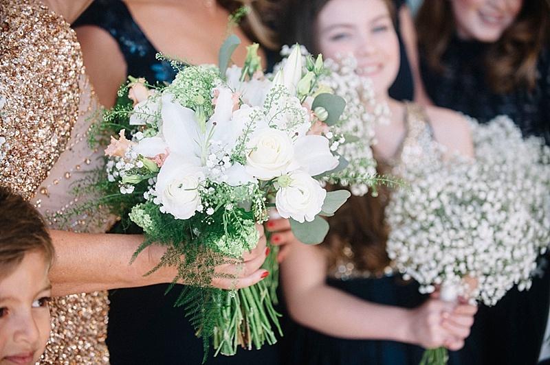 Birdes bouquet roses