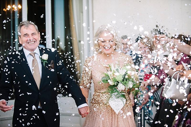 Confetti Goodwood House Wedding