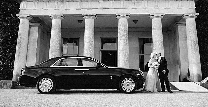Bride and Groom and Rolls Royce Phantom