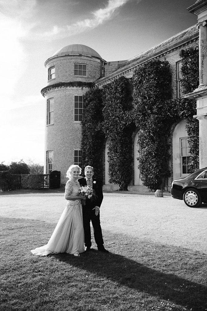Bride and Groom Goodwood House Wedding