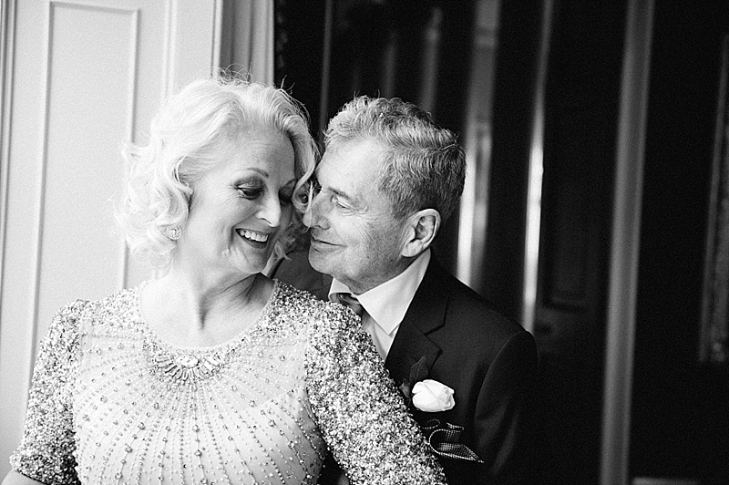 Bride & Groom black and white Goodwood House Wedding