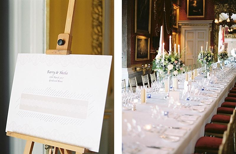 Table plan Goodwood House Wedding