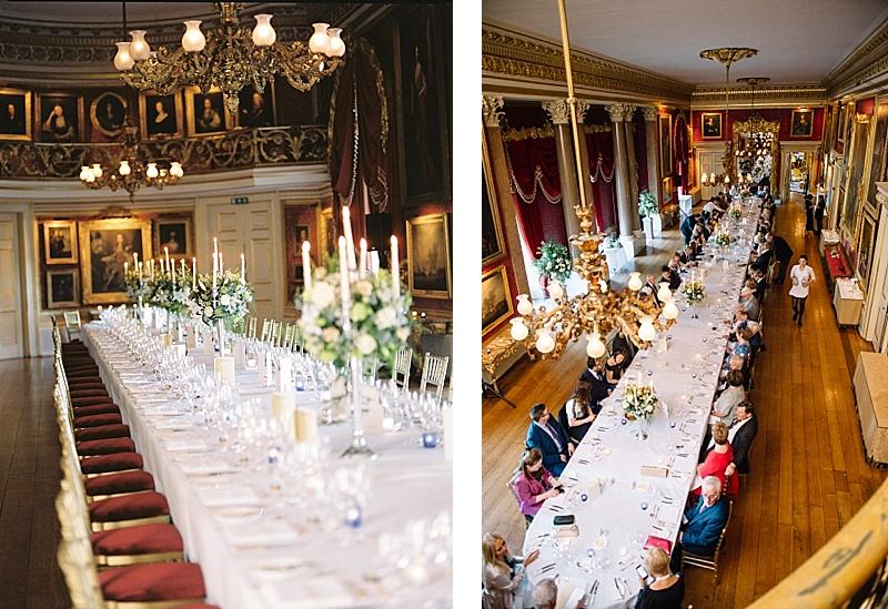 wedding banquet table Goodwood House Wedding