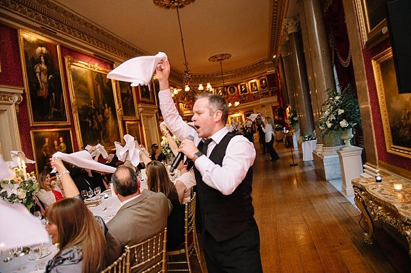 Singing waiters Goodwood House Wedding