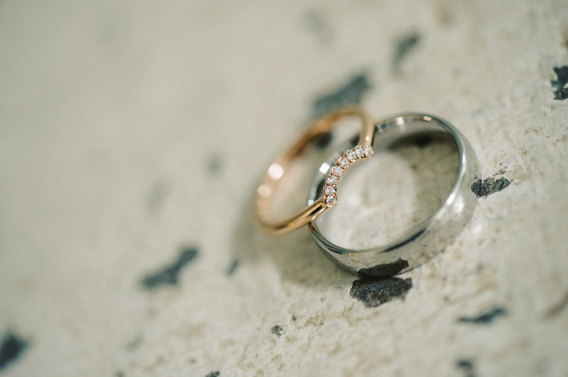 Spring Outdoor Wedding wedding rings