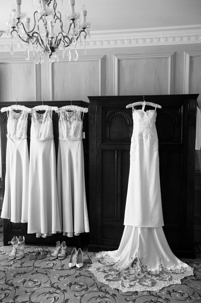 Lainston house wedding dress and bredsmaids dresses -Cooper Photography