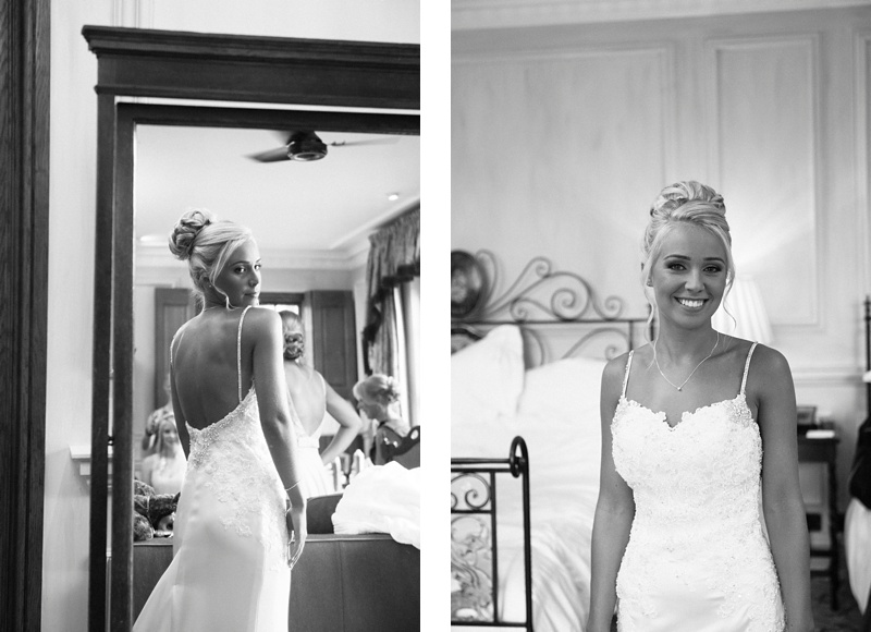 Bride getting ready at Lainston house wedding -Cooper Photography