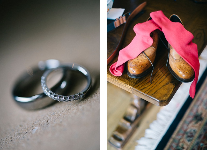 Grooms shoes and wedidng rings at Lainston house wedding