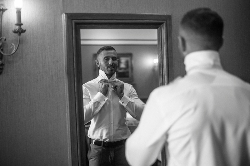-Groom getting ready Lainston house wedding