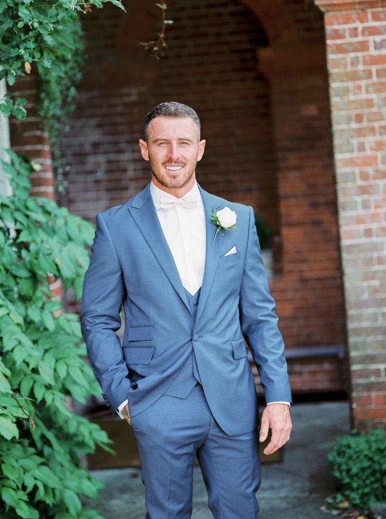 Groom Lainston house wedding