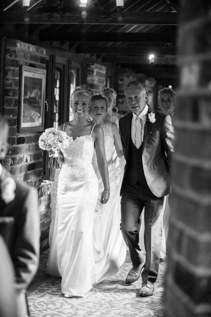 Brides Entrance Lainston house wedding
