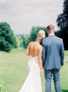 Bride & Groom Lainston house wedding
