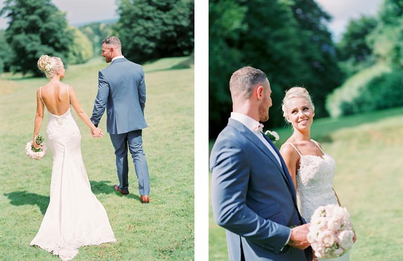 Bride & Groom Lainston house wedding