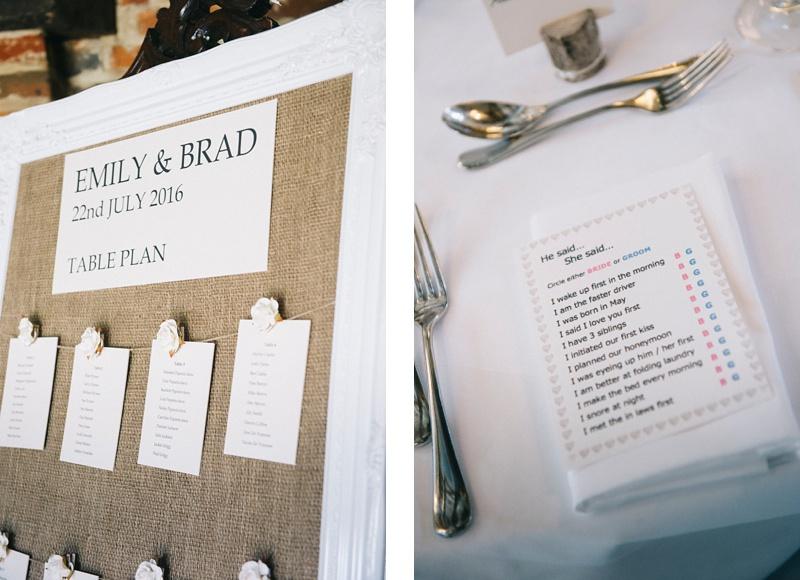 Table plan Lainston house wedding